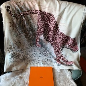 Hermès Panthera Pardus Silk Scarf
